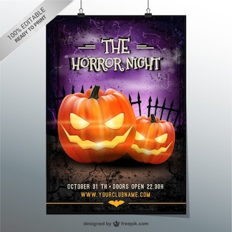 The horror night party flyer