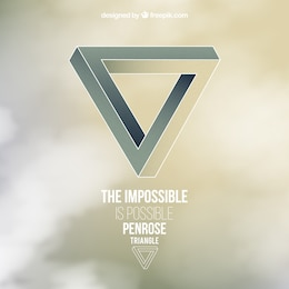 The impossible triangle background
