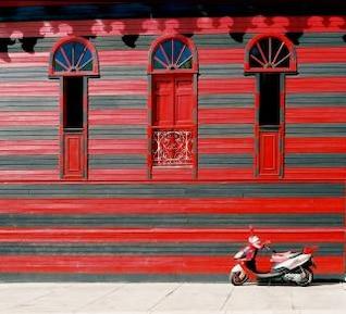 The red house, bike