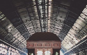 The train station ceiling