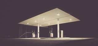 The white gas station