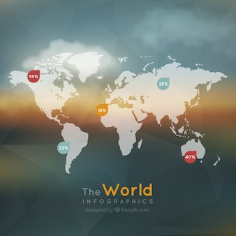 The world infographic