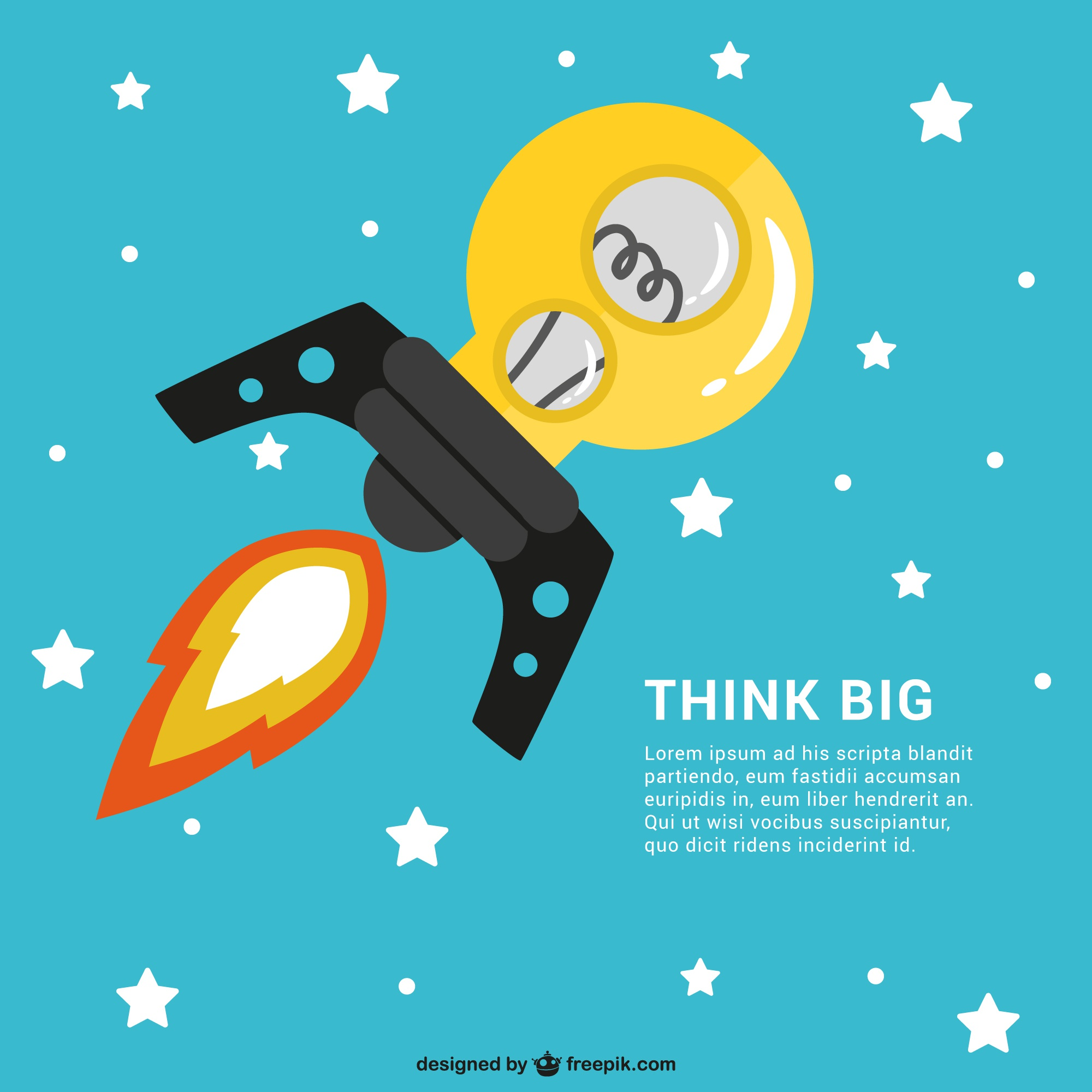Think big template vector