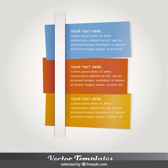 Three colorful infographics card
