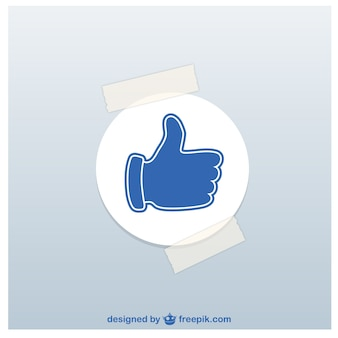 Thumbs up sticker