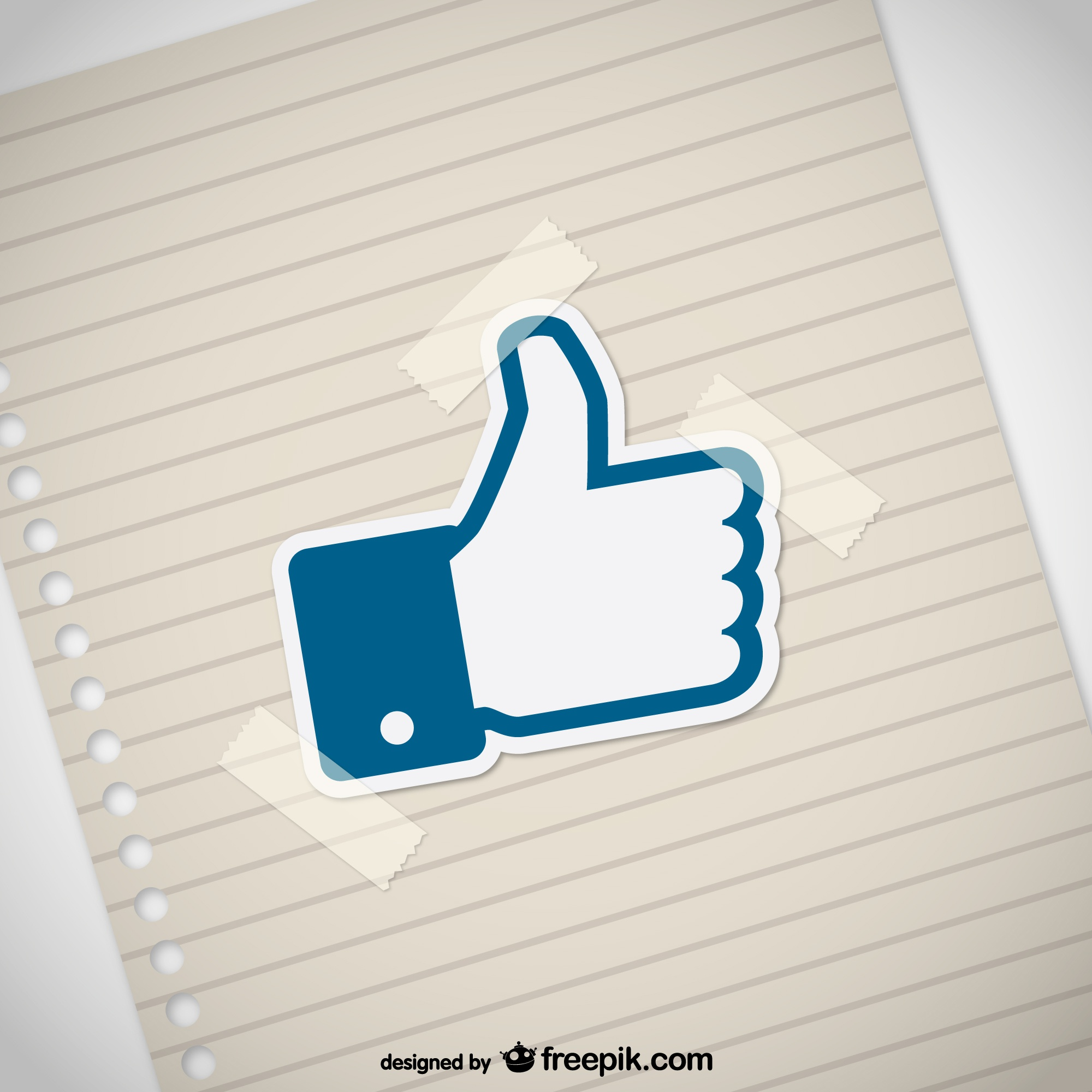 Thumbs up with paper texture