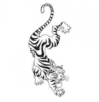 Tiger tatoo sketch template vector