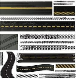 Tire tracks vector graphics