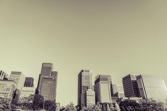 Tokyo, Japan cityscape ( Filtered image processed vintage effect