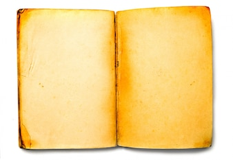 Top view of old book