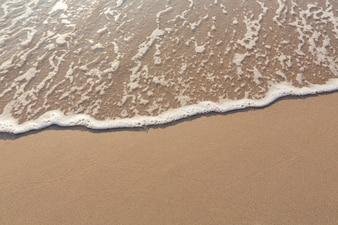 Top view of sandy seashore
