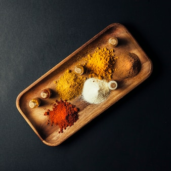 Top view tasty spices decoration