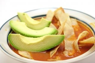 Tortilla soup, potato