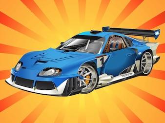 Toyota racing car vector