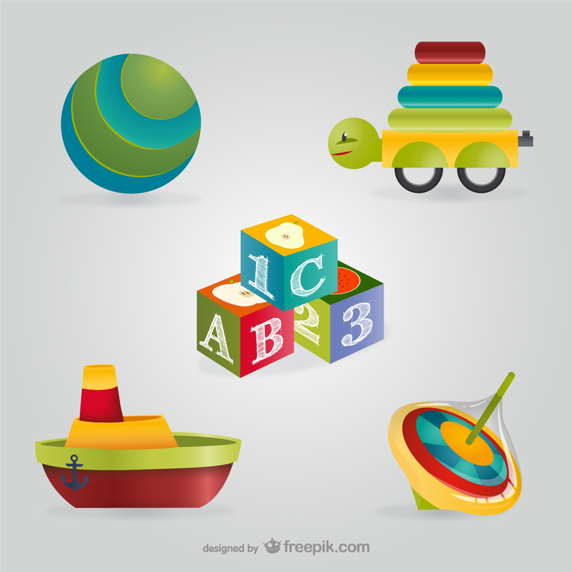 Toys and games vector