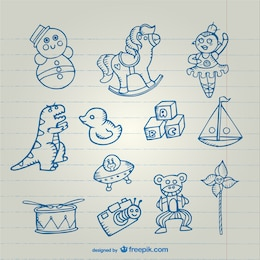 Toys drawings collection