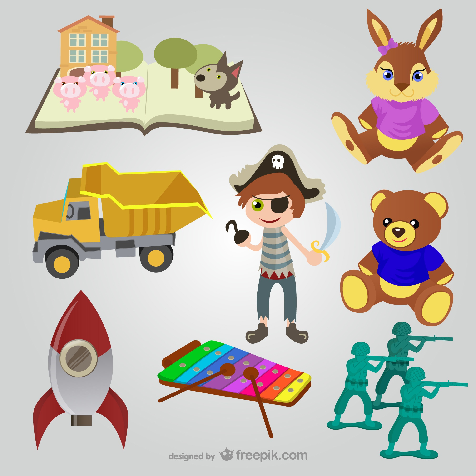 Toys vectors collection