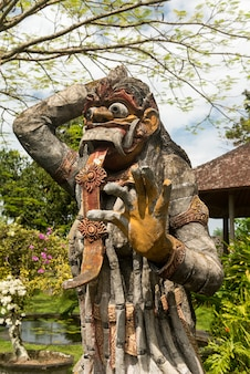 Traditional Balinese God statue