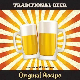 Traditional beer vector