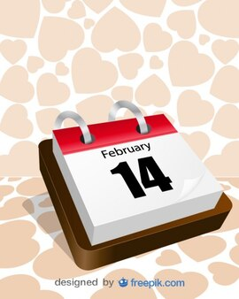 Traditional calendar valentines day