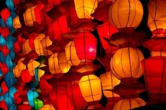 伝統的な中国の新年のランタン