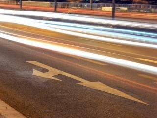 Traffic, night