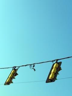 Traffic lights, street