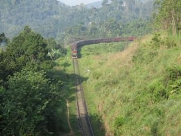 Train, sky