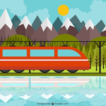 Train and landscape