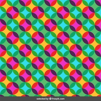 Translucent colorful circles pattern