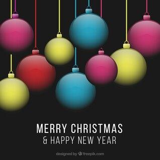 Transparent Christmas baubles