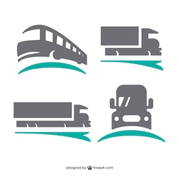 Transport logos set