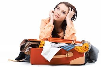 Travel adventure suitcase getaway vacation