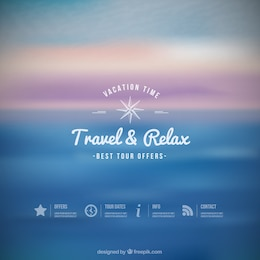 Travel and relax background