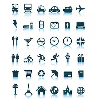 Travel icon clean vector