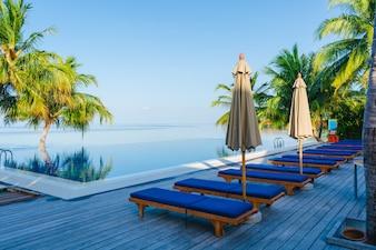 Travel relaxation umbrella luxury hotels