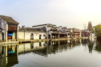 Travel rustic traditional stone water architecture