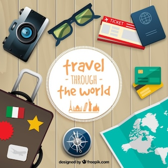 Travel through the world background