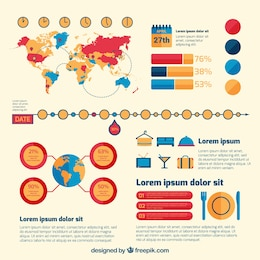 Traveling infographic template