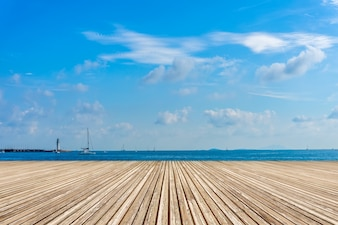 Travelling wood floor scene pier holiday