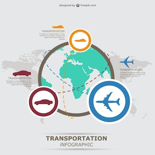 Tree infographic transportation vector