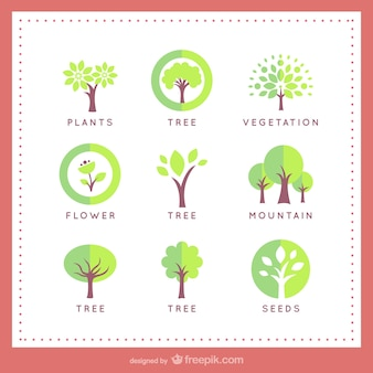 Tree logo templates