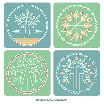 Tree logos collection