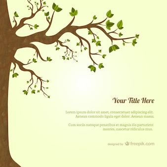 Tree with leaves template