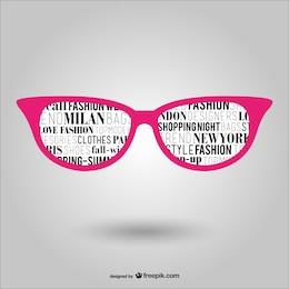 Trendy eye glasses vector