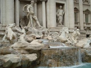 trevi fountain  italian