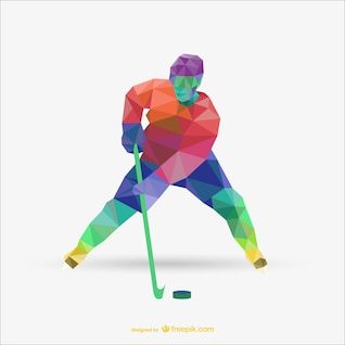 Triangle abstract vector of hockey player