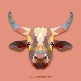 Triangle cow design