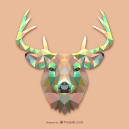 Triangle deer design
