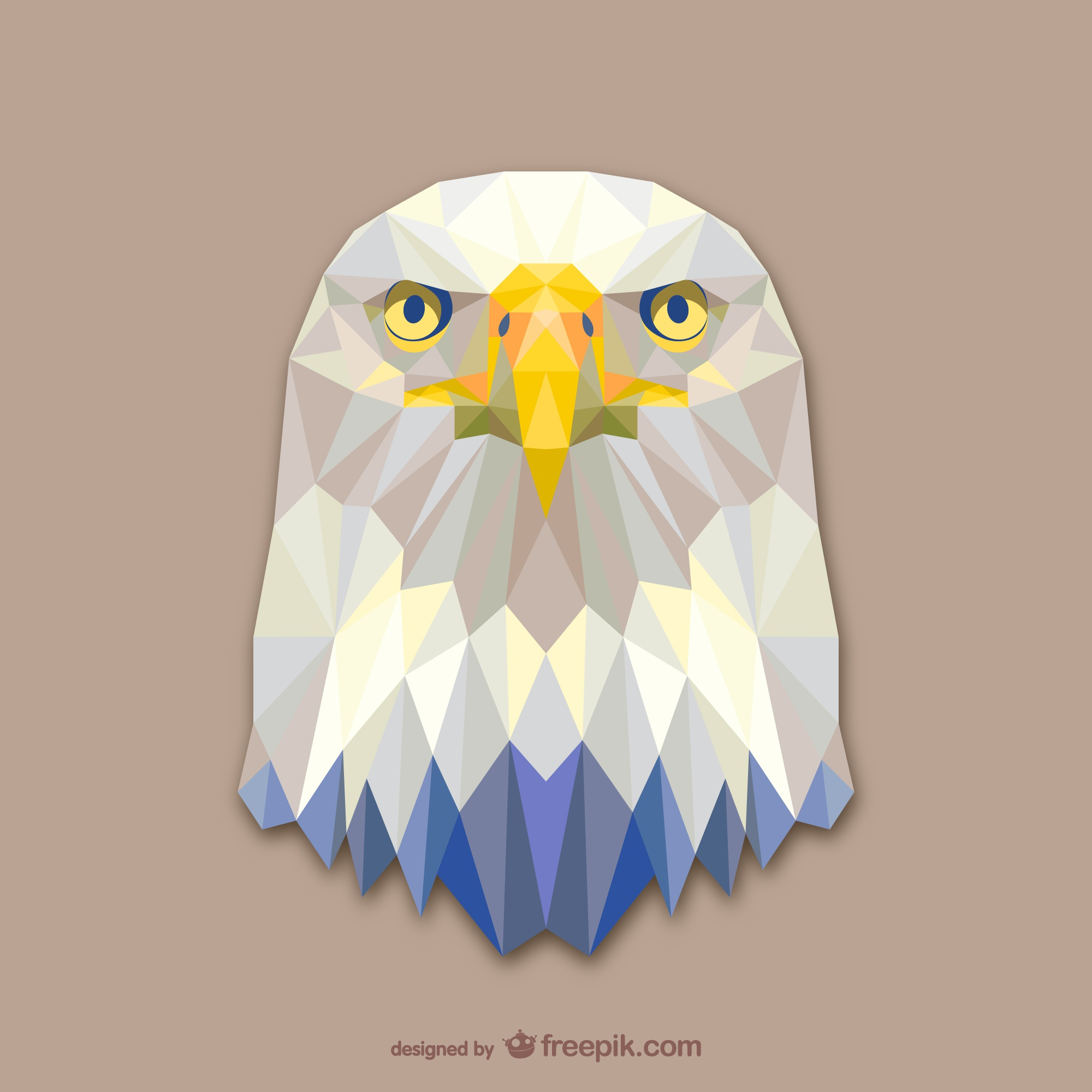 Triangle eagle design
